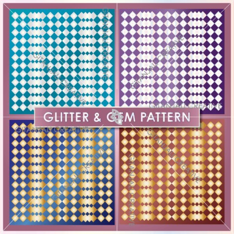 Glitter and Gem Pattern Bundle